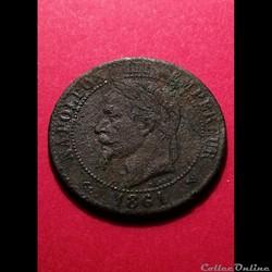 2 centimes - Napoléon III 1861