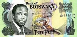 10 Pula 2002 Pick 24a Botswana