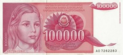 100.000 DINARA - 1989