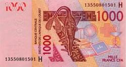 1.000 Francs Cfa 2003 Pick 615Hs BCEAO N...