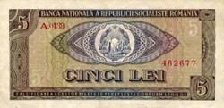 5 lei 1966 Pick 93a Roumanie