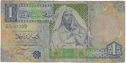 1 Dinar 2002 Pick 63a Libye