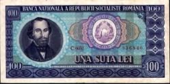 100 lei 1966 Pick 97a Roumanie