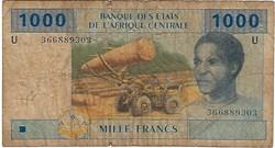 1.000 Francs 2002 Pick 207Uc Cameroun