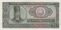 25 lei 1966 Pick 95a Roumanie