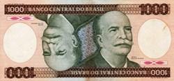 1000 Cruzeiros 1986 Pick 201d Bresil