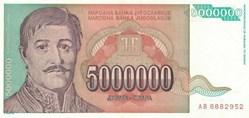 5.000.000 DINARA - 1993