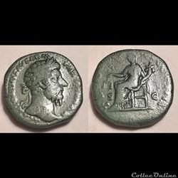 Marcus Aurelius, 161-180 A.D. AE Sestert...