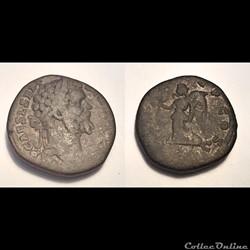 Septimius Severus. 193-211 AD. AE, Seste...