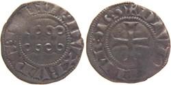 Dijon 1284-1300 denier fauté aux deux an...