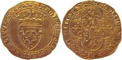 Dijon 1417 écu d'or à la couronne 1ère é...