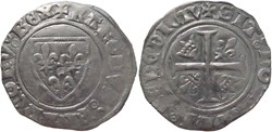Chalon-sur-Saône 1413-1417 blanc à l'écu...