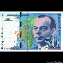 50 Francs Saint-Exupéry - Type 1992