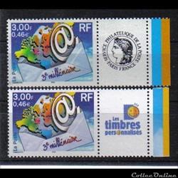 02 timbre 3éme millénaire 2002 CERES et ...
