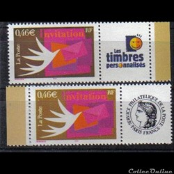 06 timbres pour invitations 2002