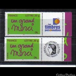 39 timbres personnalisés No 3761 A de 20...