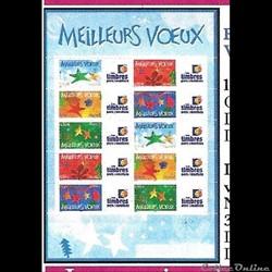 24 feuille de timbres personnalisés 2004