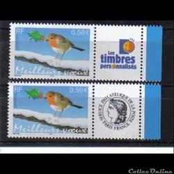 13 timbres meilleurs voeux 2003