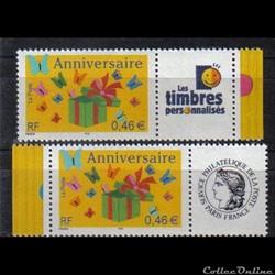 07 timbres pour anniversaires  2002
