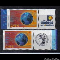 08 timbres le monde en réseau 2002