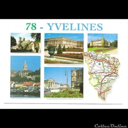 cartes postales avec carte du département