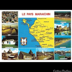 85 carte la vendée  le pays maraichin