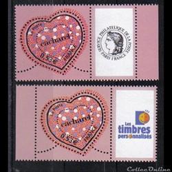 35 timbres personnalisés No 3747 A de 20...