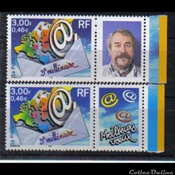 01 timbre 3éme millénaire 2000  avec pho...