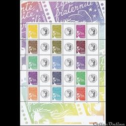 22 feuille de timbres personnalisés 2004