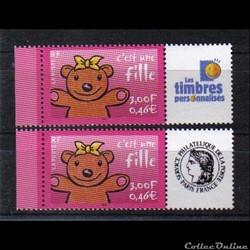 04 timbres pour naissances c,est une fil...