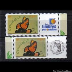 18 timbres pour naissances  2004