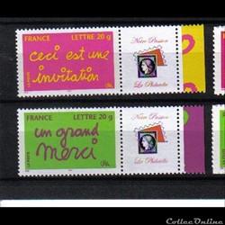 40 timbres personnalisables 3760 B et 37...