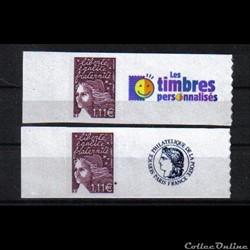 30 timbres personnalisés No 3729 C