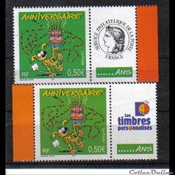10 timbres anniversaires  2003