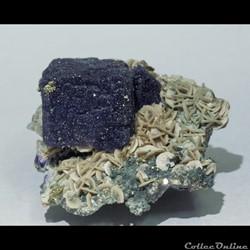 Fluorite, Pyrite et Sidérite
