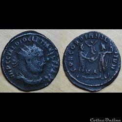Nummus Dioclétien CONCORDIA MIL-ITVM