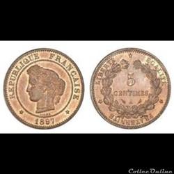 5 Centimes 1897 Céres  A