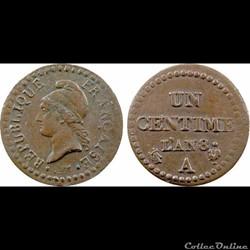 1 centime 1797 Dupre