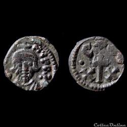 Constans II émis à Carthage (641-668) Demi Follis Sear 1060
