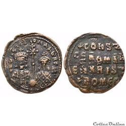 Constantin VII & Romain II  (867-1081) Follis (950-959 A.D) Constantinople - Sear 1762