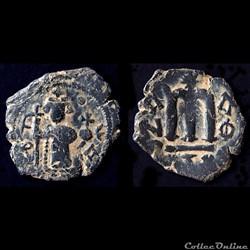 """Pseudo byzantine """"AITOI"""" type - Constant II debout, type dérivé et variante (658-c 665)"""