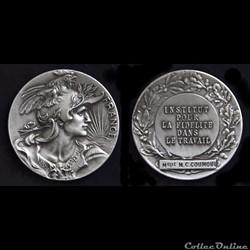 TROISIÈME RÉPUBLIQUE Médaille de l'Institut pour la fidélité dans le travail