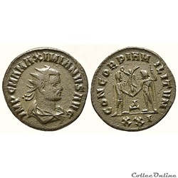 MAXIMIEN HERCULE(285-310 AD) CONCORDIA - Héraclée- RIC.595 var