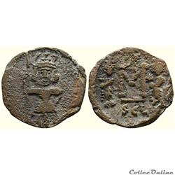Constantin IV émis à Syracuse (668-685) Follis - Sear 1209