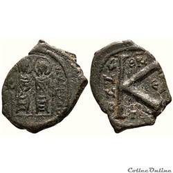 Justin II et Sophie émis à Thessalonique Anno ? (569-570) Demi-follis - Sear 366