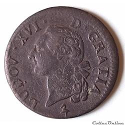 Louis XVI (1774 - 1791) - Sol 1791 A (Paris)