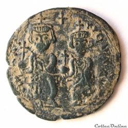 Héraclius et Heraclius Constantin Follis émis à Thessalonique (610-641) imitation Sear 824 ?