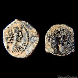 Aretas IV avec Shaqilat. NABATAEN - 9 BC...