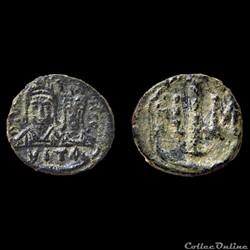 Justin II et Sophie - Decanummium émis à Carthage (565-578) - Sear 400