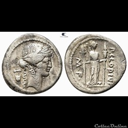 monnaie antique romaine denier claudia publius clodius apollon a la lyre 42 av jc